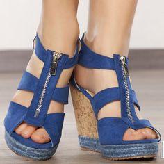 Shoes woman blue elasthomère heels 12 cm size 38, on line shop Modatoi. buy shoes on website modatoi.co.uk.