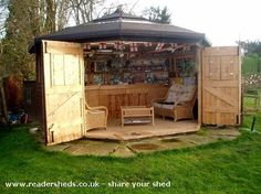 Enclosed bar-shed for party fun!
