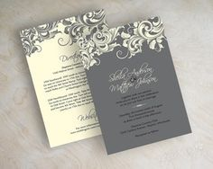 Filigree Wedding Invitations, Gray and Ivory Wedding Invitations, Appleberry Ink also has Modern Wedding Invitations, Country Wedding Invitations, Traditional Wedding Invitations, Affordable Wedding Invitations, Simple Wedding Invitations, Best Wedding Invitations, Fall Wedding Invitations and Wedding RSVP Cards at www.appleberryink.com