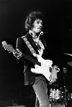 Photo of Jimi HENDRIX; performing live onstage, playing white Fender Stratocaster guitar Get premium, high resolution news photos at Getty Images Jimi Hendrix Experience, Jimi Hendrix Live, The Rolling Stones, Mavis Staples, Sheila E, Woodstock, Hard Rock, Beyonce, Jimi Hendricks