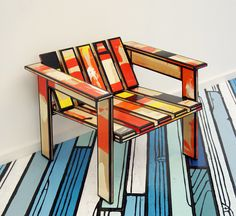 richard woods and the lan cristea gallery -painted plywood chair and floor