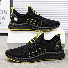 Men's Trainers Athletic Shoes Casual Daily Walking Shoes Mesh Black / White White / Green Black Spring & Summer Fall & Winter 2021 - US $36.74 Buy Mens Shoes, Mens Shoes Online, Mens Fashion Shoes, Sneakers Fashion, Shoes Men, Moda Sneakers, Sneakers Mode, Summer Sneakers, Mens Trainers