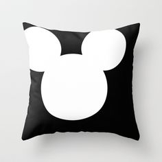 Mickey Mouse Head Throw Pillow by Kaylabeaisaflea - $20.00