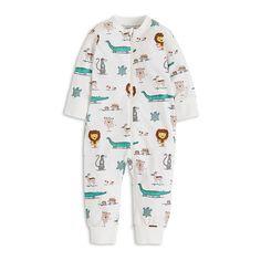 Pyjamas with Animal Print White