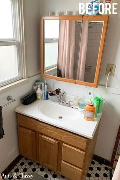 Luxury Home Interior Check out my recent inexpensive apartment bathroom makeover tutorial that will rock your world and will be kind to your budget. It is a renter-friendly bathroom makeover on a budget! Elegant Home Decor, Elegant Homes, Cheap Home Decor, Rental Bathroom, Bathroom Interior, Bathroom Ideas, Gold Bathroom, Budget Bathroom, Bathroom Makeovers On A Budget