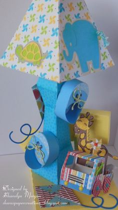 Make a Baby Lamp for a Gift for that new mom. Check out my blog for info..