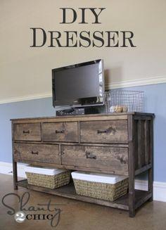 DIY Pottery Barn Inspired Dresser- Shanty 2Chic