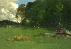 """Summer"" c.1888, oil/canvas - John Francis Murphy"