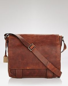 Frye Logan Messenger Bag #Menswear Like our FB page https://www.facebook.com/effstyle