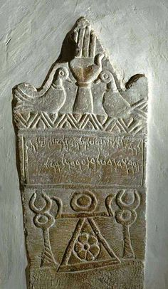 """The origins of the open hand as a symbol for protection is very ancient. pic: 2 pigeons and an open hand above the sign of the goddess Tanit. Musee du Bardo, pic: Stele fragment with Tanit's sign flanked by an open hand. Ancient Goddesses, Ancient Symbols, Ancient Aliens, Ancient Artifacts, Gods And Goddesses, Ancient Egypt, Ancient History, Mayan Symbols, Viking Symbols"