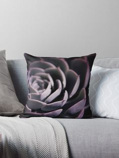 Photography of beautiful Succulents, digital prepared and new colored. ©2018 by Pia Schneider, atelier COLOUR-VISION. • Also buy this artwork on home decor, apparel, stickers und more. #art #pillows ##ultraviolet #violet ##succulent #kunst #kissen #homedecor #dekoration  #piaschneider #throw #decorate #purple