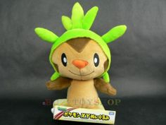 2013 TAKARA TOMY POKEMON X AND Y MONSTER COLLECTION PLUSH DOLL CHESPIN