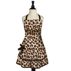Leopard print apron.. in order to do anymore house work and cooking I'm going to need this ASAP! :)