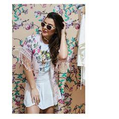 New! Kimono candy floral + tshirt. Muita fofura junto 🙂🙂🙂. . . . ✅ Dúvidas? Comente aqui 👇 ✅ Gostou? Comente tb 😉 👇 ....................................................... . Vendas online WhatsApp: (31) 996868581✅✅ Dividimos em 6 vezes nos cartões 💳 Enviamos 🇧🇷📦✈ Todas as vendas com rastreio dos correios. 📩para todo Brasil.