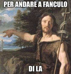 Italian Memes, Religion Catolica, Foto Instagram, Funny Art, Funny Moments, Mona Lisa, Funny Pictures, Funny Quotes, Jokes