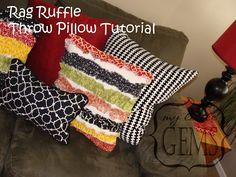 DIY -Ruffle Pillows. Adore.
