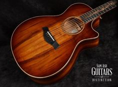 Taylor Guitars K22ce Koa Grand Concert Acoustic-Electric Guitar Shaded Edgeburst