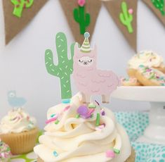 I love this Lama Cactus Cupcake Topper! – See more Lama party love on B. First Birthday Cupcakes, 2nd Birthday Party Themes, Cupcake Party, First Birthday Parties, Birthday Party Decorations, First Birthdays, Birthday Ideas, Llama Birthday, 11th Birthday