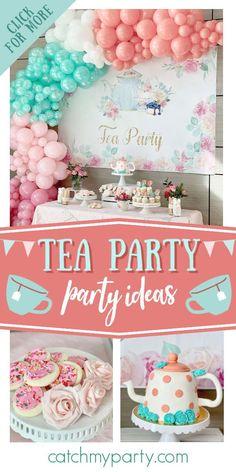 Tea Party Door Sign Tea Party Birthday Decor Birthday Sign Welcome Sign Girls Birthday Party Tea Party Birthday