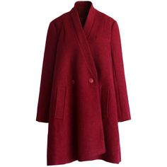 Chicwish Oversized Cocoon Coat in Burgundy (5.815 RUB) ❤ liked on Polyvore featuring outerwear, coats, jackets, coats & jackets, red, wool-blend coat, red coat, oversized coat, burgundy coat and cocoon coat