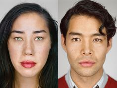 LEFT: Julie Weiss, 33, Hollywood, California | Self-ID: Filipino, Chinese, Spanish, Indian, Hungarian, and German Jew | Census boxes checked: white/Asian Indian/Chinese/Filipino RIGHT: Maximillian Suguira, 29, Brooklyn, New York | Self-ID: Japanese, Jewish, and Ukrainian | Census boxes checked: white/Japanese