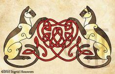 DeviantArt: More Like The Celtic Animals by Illahie Celtic Symbols, Celtic Art, Celtic Knots, Celtic Dragon, Mayan Symbols, Egyptian Symbols, Ancient Symbols, Celtic Patterns, Celtic Designs