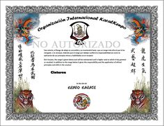 certificate templates martial arts certificates