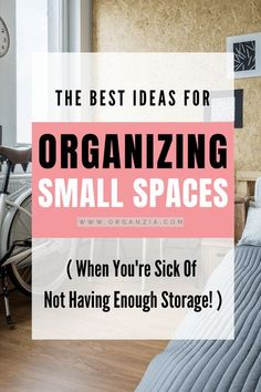 Organizing in small spaces can be challenging. And when it comes to keeping a small space organized, you need to be smart. These small home organization ideas and products will help you make the most of the space you have available. Check out these great ideas for maximizing your storage in all those small rooms and spaces!