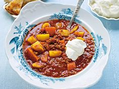 Quick Cooked ground beef soup with taco flavor Soup With Ground Beef, Swedish Recipes, I Want To Eat, Recipes From Heaven, Rind, Food Inspiration, Good Food, Brunch, Dessert Recipes