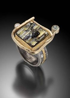 Tourmaline_Crystal_ring-14k_gold,_oxidized_sterling_silver,_natural_tourmaline_crystal,_diamonds-$1250.jpg 732×1.024 piksel