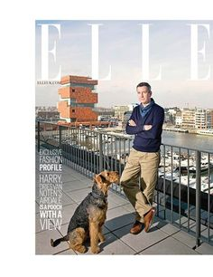 Doggy Style: Fashion pets in photos | ELLE UK Dries Van Noten's Harry is an Airedale terrier