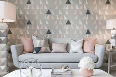 'Modul' Lohko wallpapers | SCION | Malcolm Fabrics