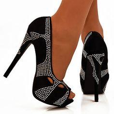 Nuevo-De-Mujer-Piedreria-Aberturas-Peep-Toe-Zapatos-Tacones-Aguja-Stiletto-Noche