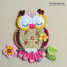 Great owl mug rug