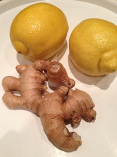 Ginger and lemonsFresh ginger root (about 180 grams or thereabouts) Juice of 2 large lemons 6 tablespoons of xylitol or erythritol (use more or less according to personal taste) 500 ml water