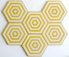 fun striped hexagon tile!