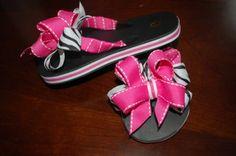 RIBBON FLIP FLOPS Custom Ribbon, Diy Ribbon, Cute Outfits For Kids, Cute Kids, Ribbon Flip Flops, Flip Flop Craft, Decorating Flip Flops, Girls Flip Flops, Sassy Pants