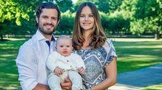 Prinz Carl Philip von Schweden und Prinzessin Sofia mit Sohn Prinz Alexander