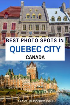 The 21 Best Instagram Spots in Quebec City, Canada and photography tips on how to get the best shot  Most Instagram Worthy Places in Quebec City   List of Best Photo Spots in Quebec City   Quebec City photography   Quebec City photos   Things to do in Quebec City   Must sees in Quebec City   Quebec City attractions   Travel tips for Quebec City   Where to get the best photos in Quebec City   Tips for traveling in Quebec City #Quebec #Canada #Photography #TravelBlissNow Canada Vancouver, Vancouver Travel, Travel Usa, Travel Tips, Canada Destinations, Canadian Travel, Visit Canada, Quebec City, Best Places To Travel