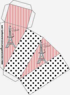 15 Años París: Cajas para Imprimir Gratis.
