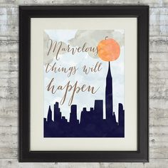 Marvelous Things Will Happen James and the by PrintsAndPrintables