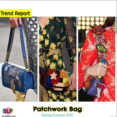 Patchwork Bag Trend for Spring Summer 2015. Chanel, Anna Sui, and House of Holland  #Spring2015 #SS15 #Trends2015