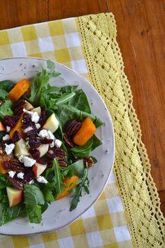 Autumn Salad with Honey Dijon Vinaigrette