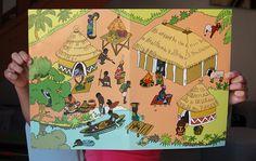 Scène de vie L'afrique | Jouonsensemble.fr