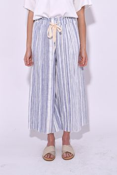 Handcrafted Stripe Pants in Indaco - size 1