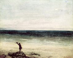 Gustave Courbet: The Artist on the seashore at Palavas (1854)
