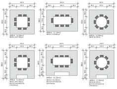 Resultado de imagem para medida mesa quadrada oito lugares