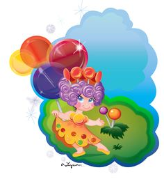 Candyland Background | Very sweet with tips on candy characters page.