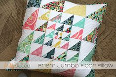 Prism Jumbo Floor Pillow by freshlypieced, via Flickr for Art Gallery Fabrics Fat Quarter Gang