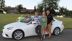 Happy family to drive a FREE Lexus!  www.lforman.com